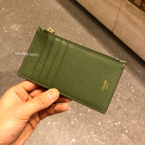 【CELINE】Compact zipped card holder