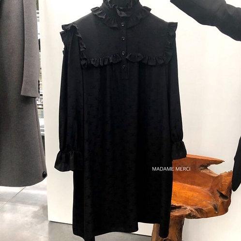 【CELINE】TRIOMPHE MINI PRAIRIE DRESS × SILK JACQUARD
