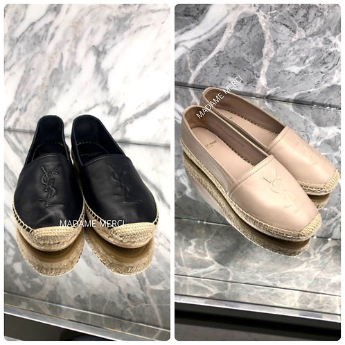 【Saint Laurent】LAMB ESPADRILLES MONOGRAM
