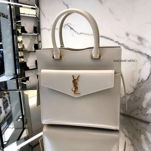 【Saint Laurent】UPTOWN SMALL TOTE × GLOSS LEATHER