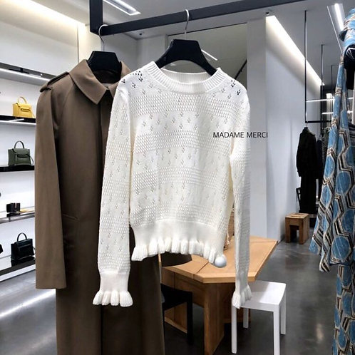 【CELINE】DOTTED COTTON SWEATER