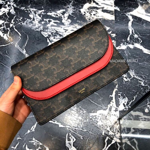 【CELINE】Triomphe Wallet with strap