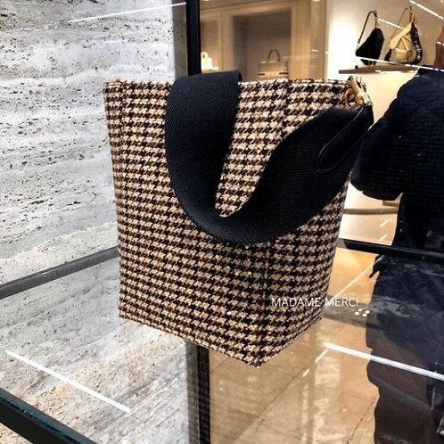【CELINE】Small Tweed Strap Bucket Bag