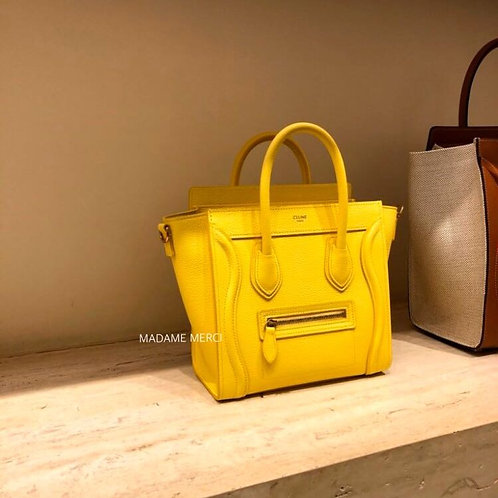 【CELINE】Luggage Nano Model bag × grained calfskin