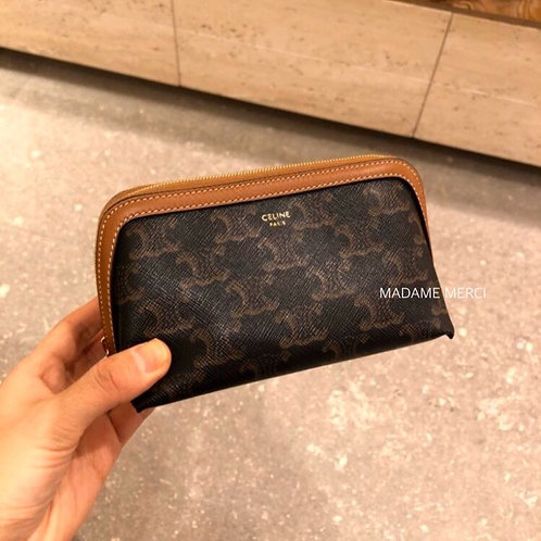 【CELINE】Cosmetic pouch × Triomphe Canvas