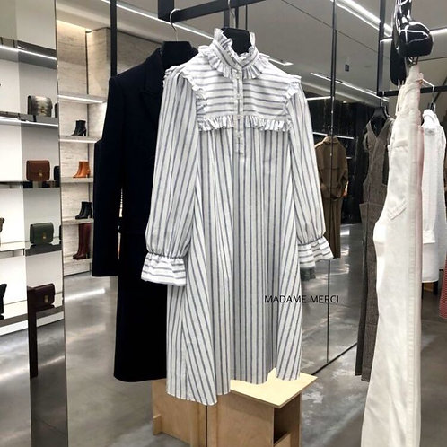 【CELINE】MINI PRAIRIE DRESS × COTTON & STRIPED LINEN