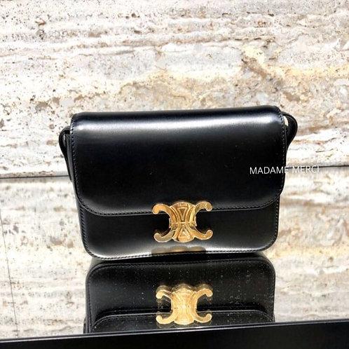 【CELINE】Triomphe Nano Model bag × satin calfskin