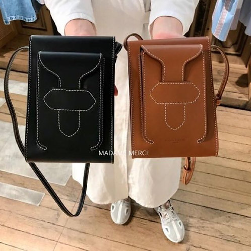 【Maison Margiela】Leather shoulder bag