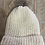 Thumbnail: כובע צמר בצבע שמנת עם פונפון בגווני כאמל