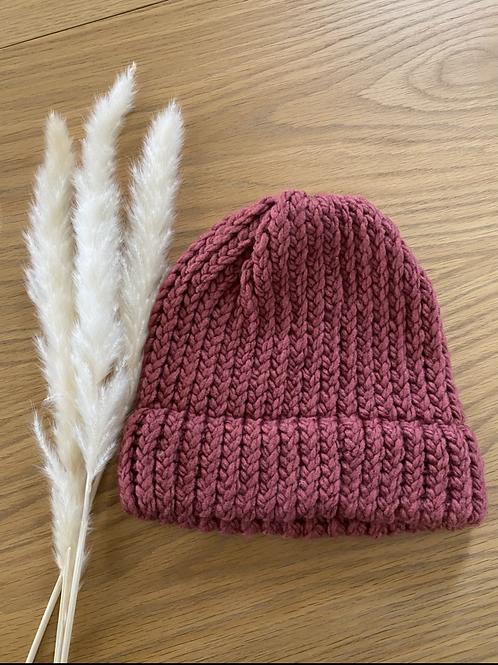 כובע צמר בגווני ורוד