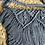 Thumbnail: תיק צד מקרמה קולקציית פרנזים דגם אפור כהה