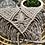 Thumbnail: תיק צד מקרמה דגם flower אפור מוקה