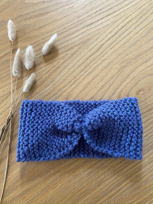 סרט מחמם לשיער בצבע כחול סגלגל