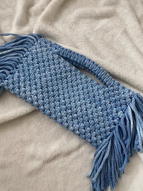 תיק צד מקרמה דגם Billie כחול tie dye