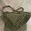 Thumbnail: תיק צד מקרמה קולקציית פרנזים דגם ירוק זית