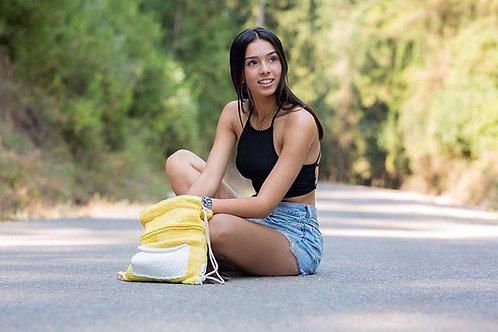 EMERALD צהוב עם כיס לבן