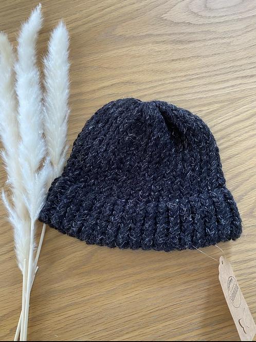 כובע צמר שחור לילדים