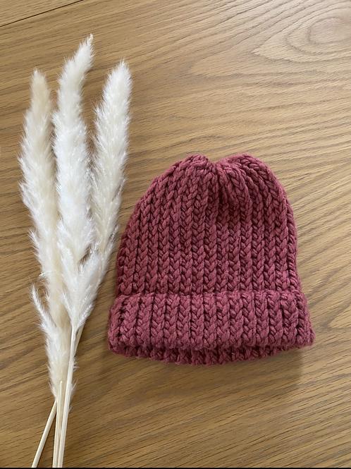 כובע צמר בגווני ורוד לתינוקות/ ילדים