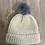 Thumbnail: כובע צמר בצבע שמנת עם פונפון אפור