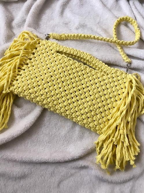 תיק צד מקרמה דגם Billie צהוב