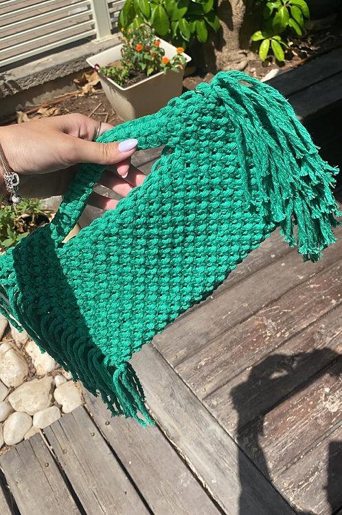 תיק צד מקרמה דגם Billie ירוק