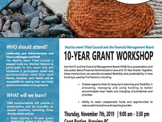 10 Year Grant Workshop with FMB