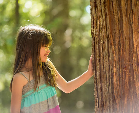First Nations Enviornmental Image of girl and tree