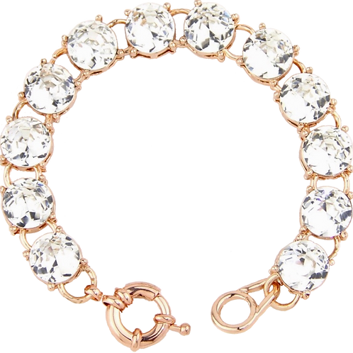 1279 ROSE GOLD with CLEAR STONES