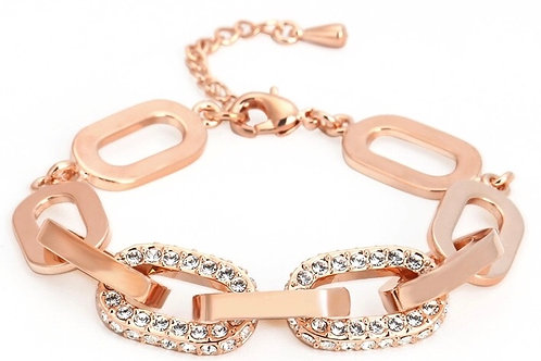 1390 ROSE GOLD with CLEAR CRYSTALS