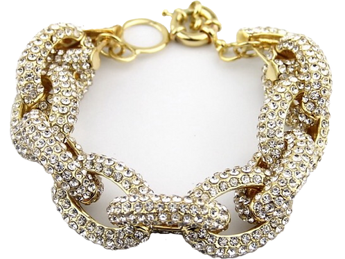 1228 GOLD with CLEAR CRYSTALS