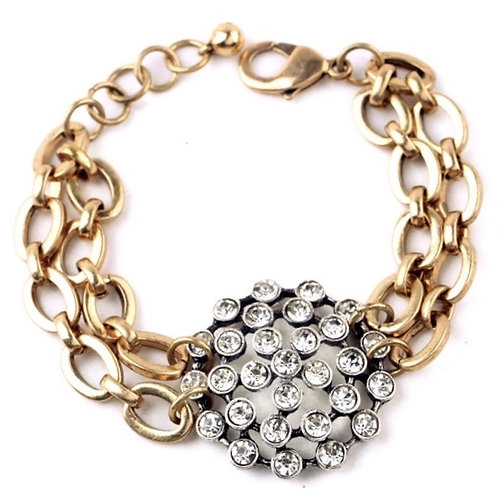 1355 GOLD with CLEAR CRYSTALS