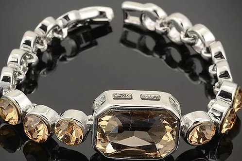 1335 SILVER with CLEAR CRYSTALS, SILVER with CHAMPAGNE  color CRYSTALS