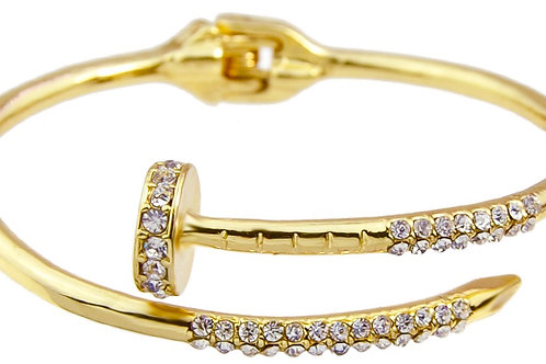 1231 GOLD, SILVER or ROSE GOLD with CLEAR CRYSTALS