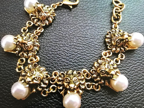 1329 ANTIQUE GOLD with FAUX PEARLS
