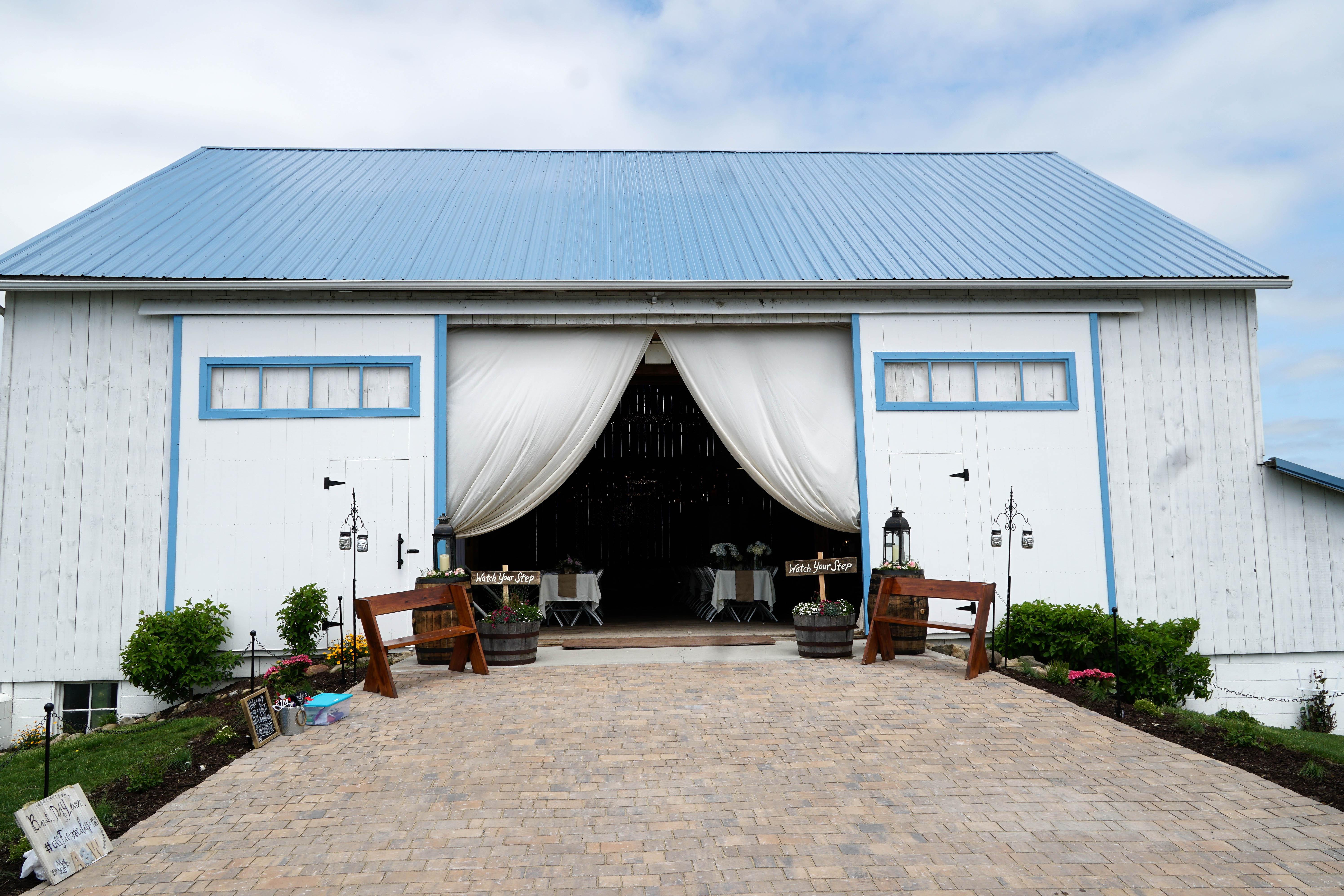 The wedding barn.