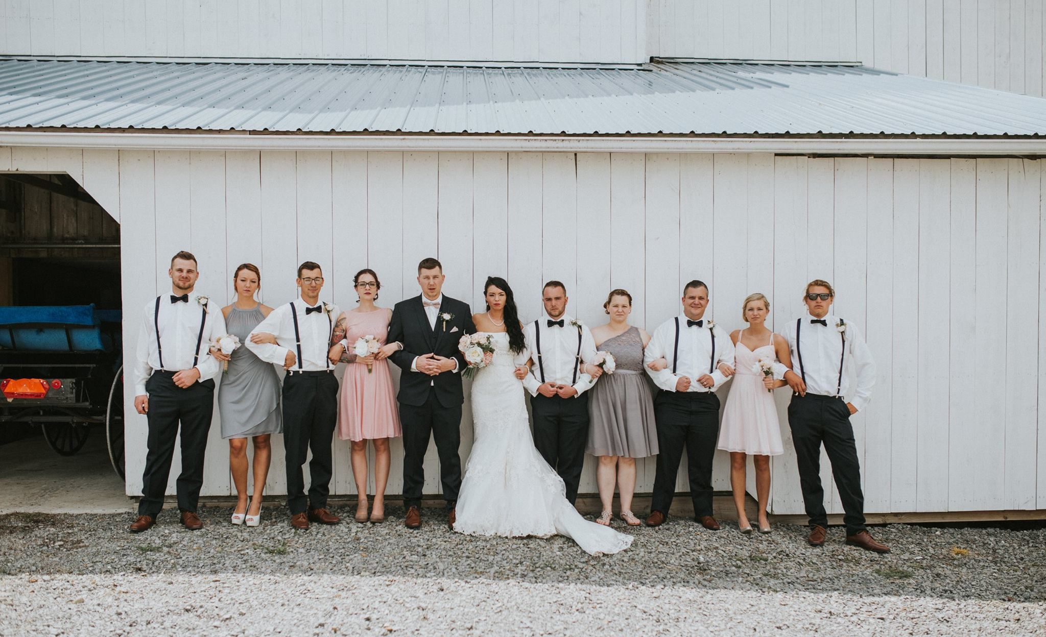 In Front of the Wedding Barn