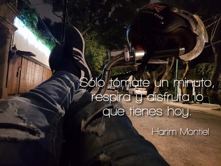 """""""Tus acciones hoy definirán tus logros del mañana."""" Harim Montiel"""