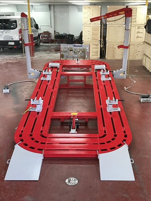18 FEET 2 TOWER AUTO BODY FRAME MACHINE RED/SILVER