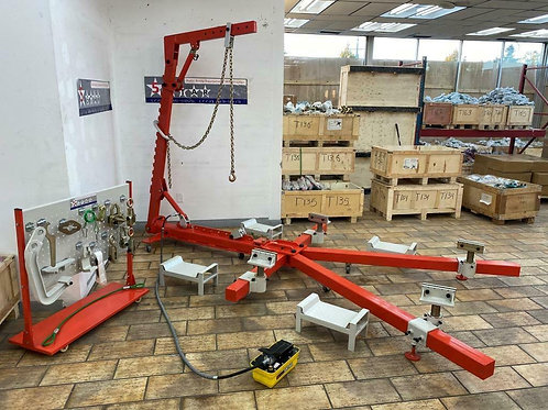 4 clamp Auto Body Frame Puller Straightener With Roof attachment