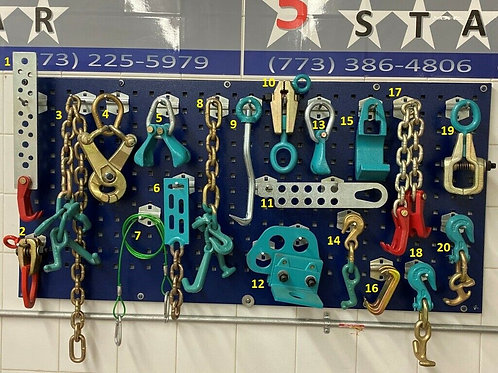 20 PIECE TOOL AND CLAMP SET
