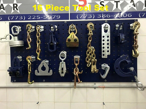 16 PIECE TOOLS AND CLAMP CHAIN SET