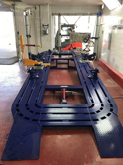 "22 FEET LONG 7 FT 3"" WIDE AUTO BODY FRAME MACHINE 3 TOWERS"