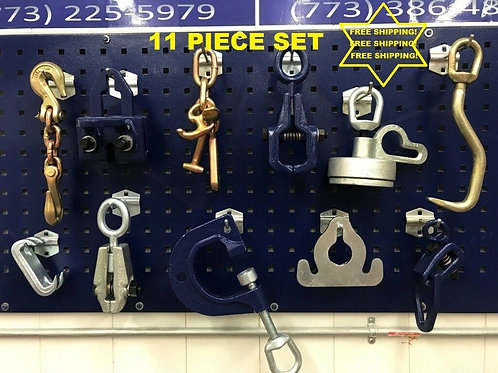 11 PIECE TOOLS AND CLAMP CHAIN SET FREE SHIPPING