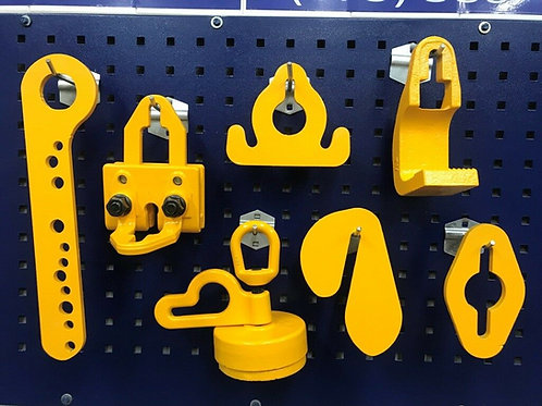 7 PIECE HEAVY DUTY AUTO BODY TOOLS & CLAMPS SET
