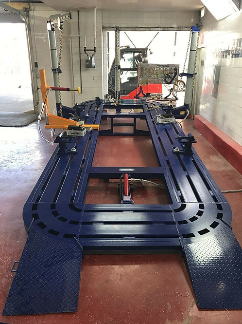 20 FEET LONG AUTO BODY FRAME MACHINE 30 TON = 3 TOWERS + CLAMPS TOOLS CART BENCH