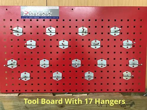 TOOL BOARD WITH HANGERS