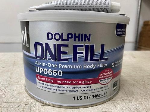 U-POL UPO660 Dolphin One Fill All-In-One Premium Auto Body Repair Filler 1 Quart