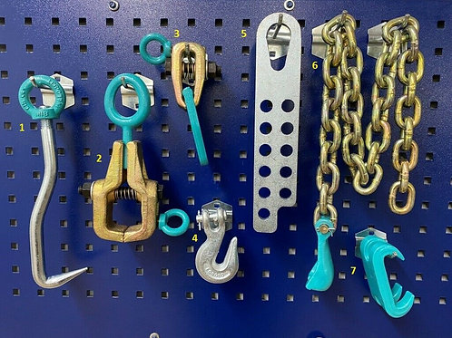 7 PIECES PULLING CLAMPS TOOLS