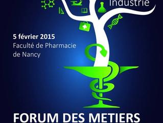 Forum des métiers du médicament - le 5 février 2015