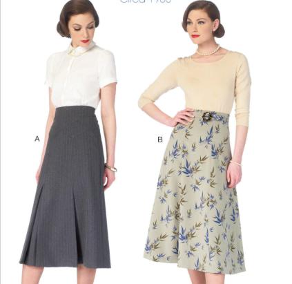 Retro Pinstripe Skirt